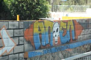 Heading to Nicosia, Turkey graffiti