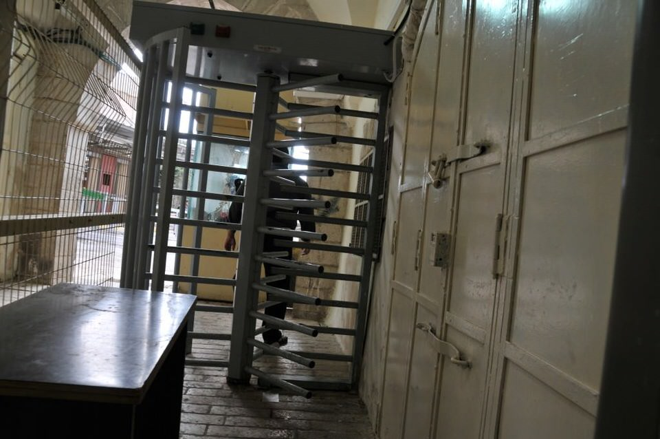 Turnstile at Hebron, Palestine, Tombs of the Patriarchs