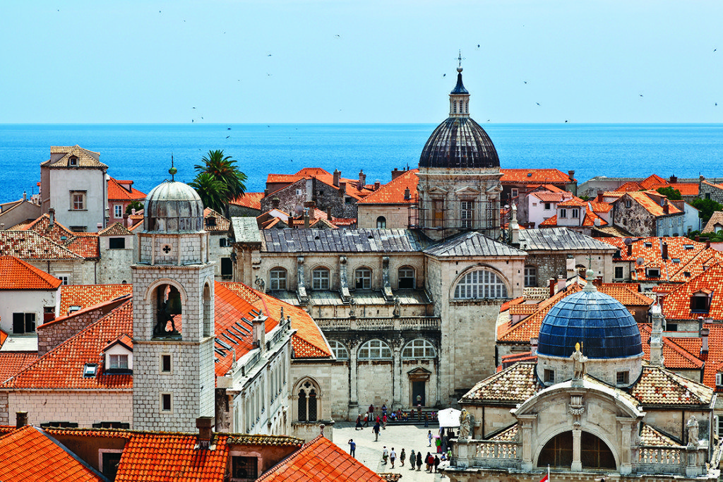 Top 4 Tour Groups for Solo Women Travelers, Panorama of Dubrovnik from the City Walls Croatia