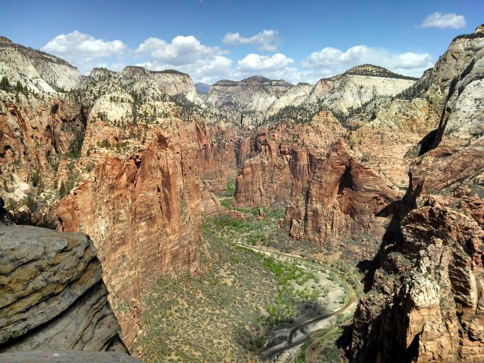 Top 4 Tour Groups for Solo Women Travelers, Temple of Sinewava from Angels Landing Zion National Park Low res