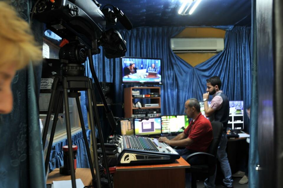 Ramallah Women Production staff at a TV station in Ramallah, Palestine,Women of Ramallah