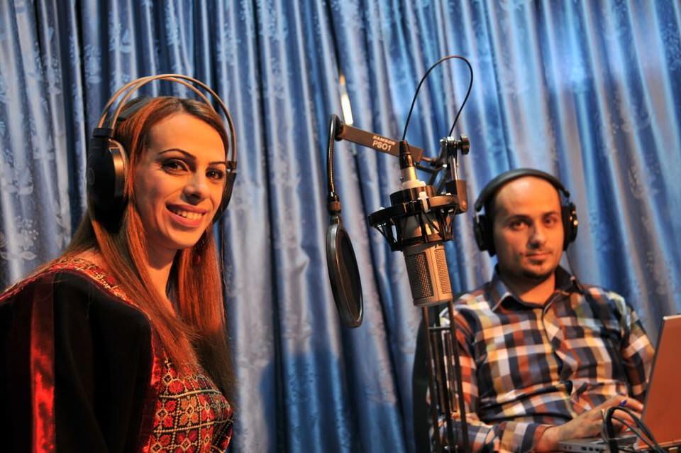 Anchors at a TV station in Ramallah, Palestine, Ramallah Women