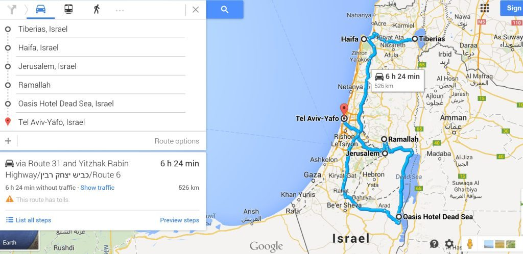 locations - My Israel Itinerary