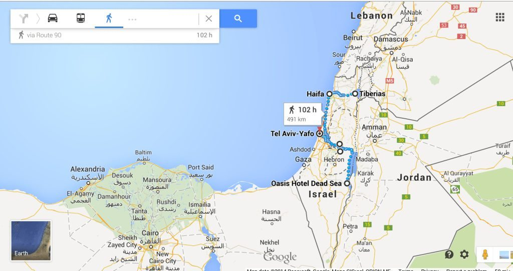 Israel map 3 - My Israel Itinerary