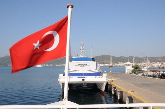 Turkey to Rhodes, Greece