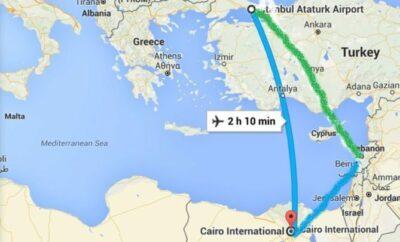 Istanbul Turkey to Cairo, Egypt