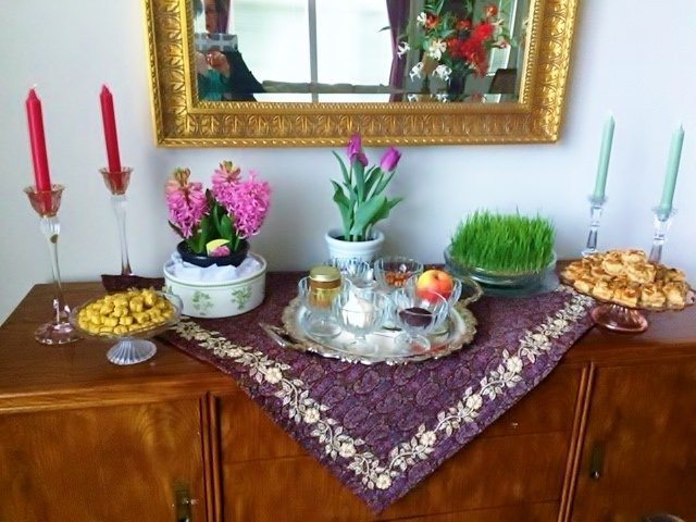 Persian Haftseen table