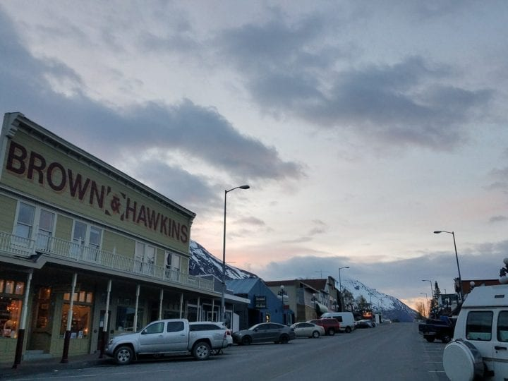night in seward in the summer