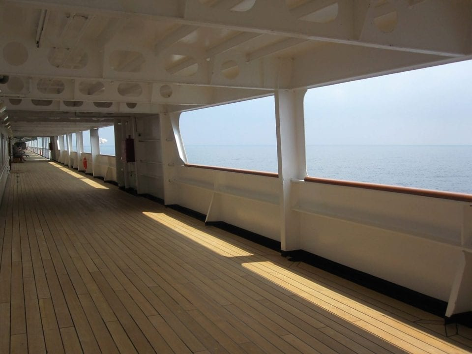 Covered Promenade on Holland America's Maasdam deck 6