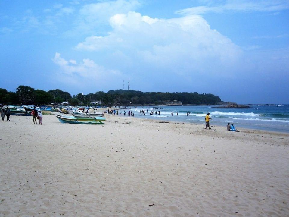 Public beach at Trincomalee, Sri Lanka.