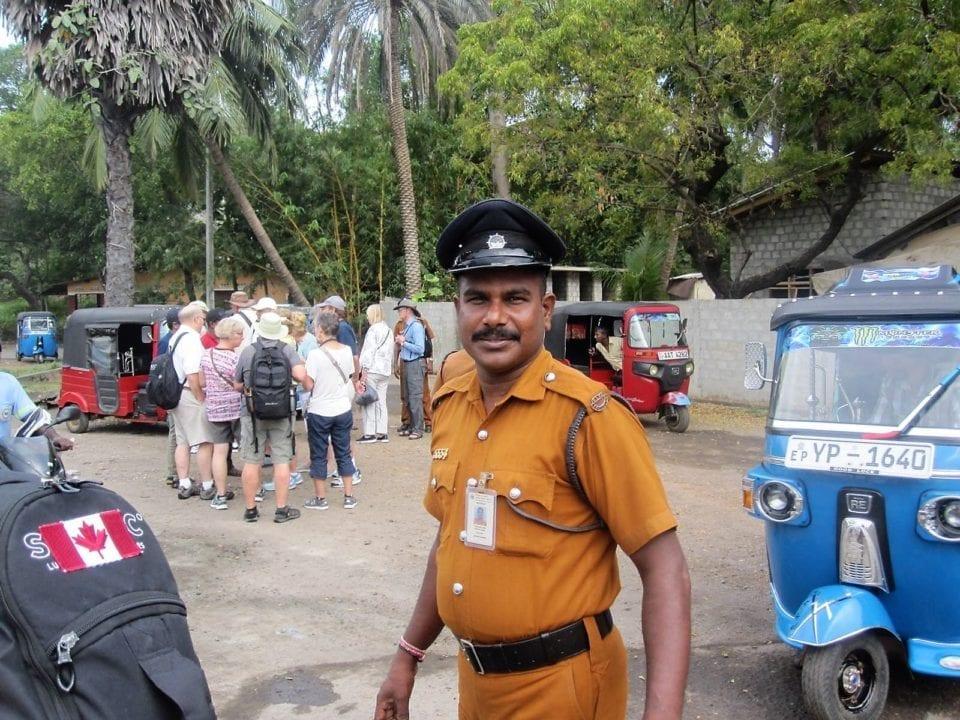 Sri Lankan police officer.